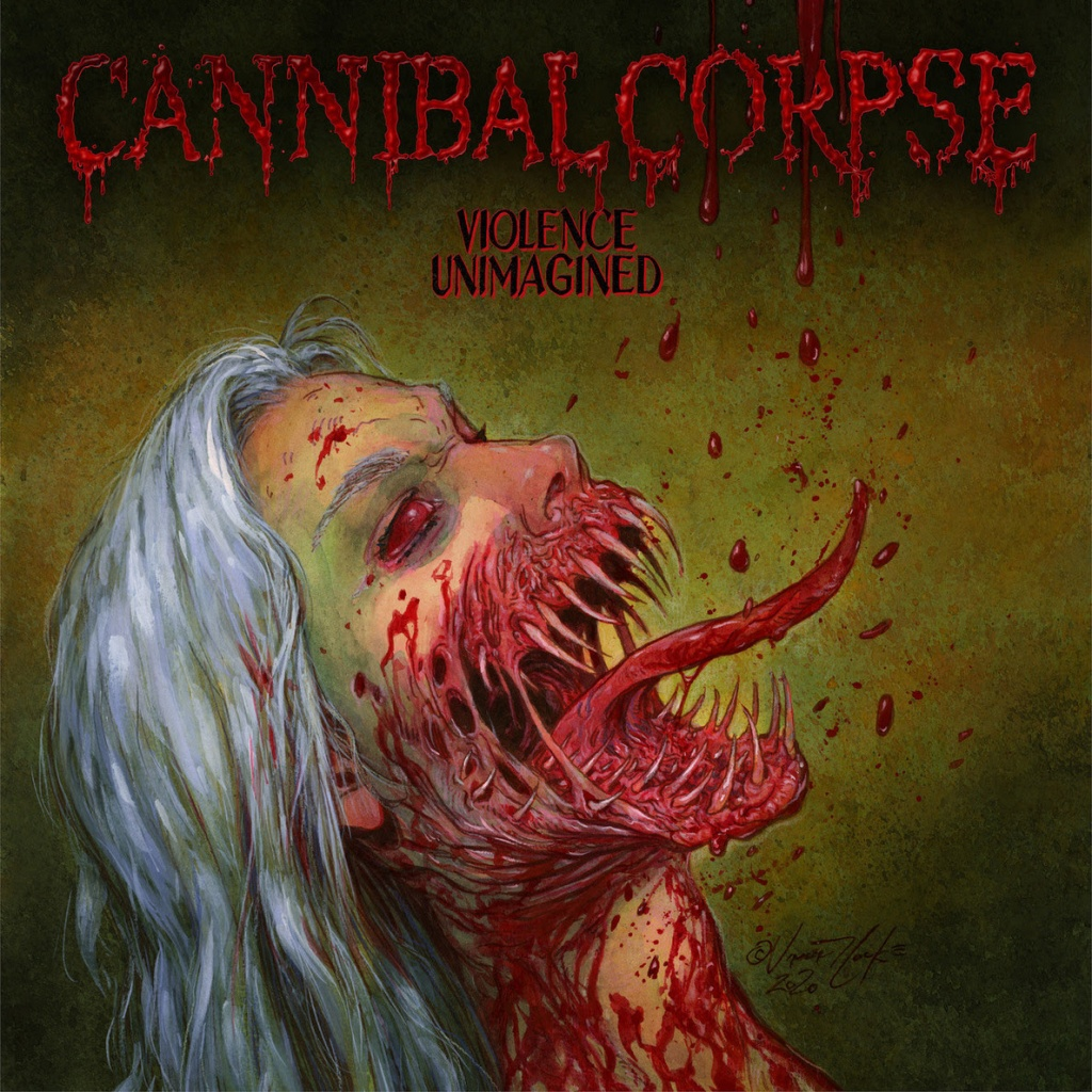 Album artwork for Cannibal Corpse's fifteenth studio album, Violence Unimagined.